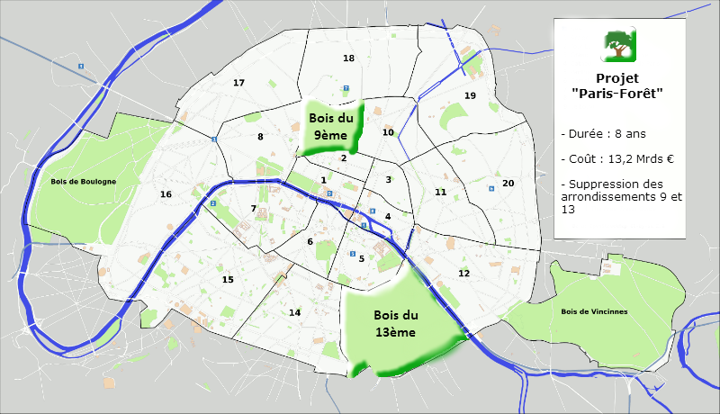 Reboisement paris fin des arrondissements 9 13 actubis for Bureau de change 13 arrondissement