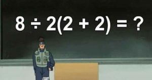 Ils ont résolu le problème de maths 8÷2(2+2) et ont tous un résultat différent !