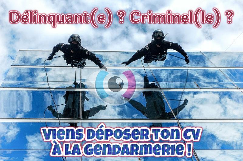 Emploi : Délinquant ? Criminel ? Déposez vos CV à la Gendarmerie