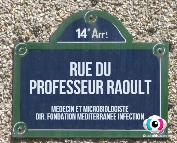 La rue Emile Richard de Paris (14ème) rebaptisée rue du Professeur Didier Raoult !